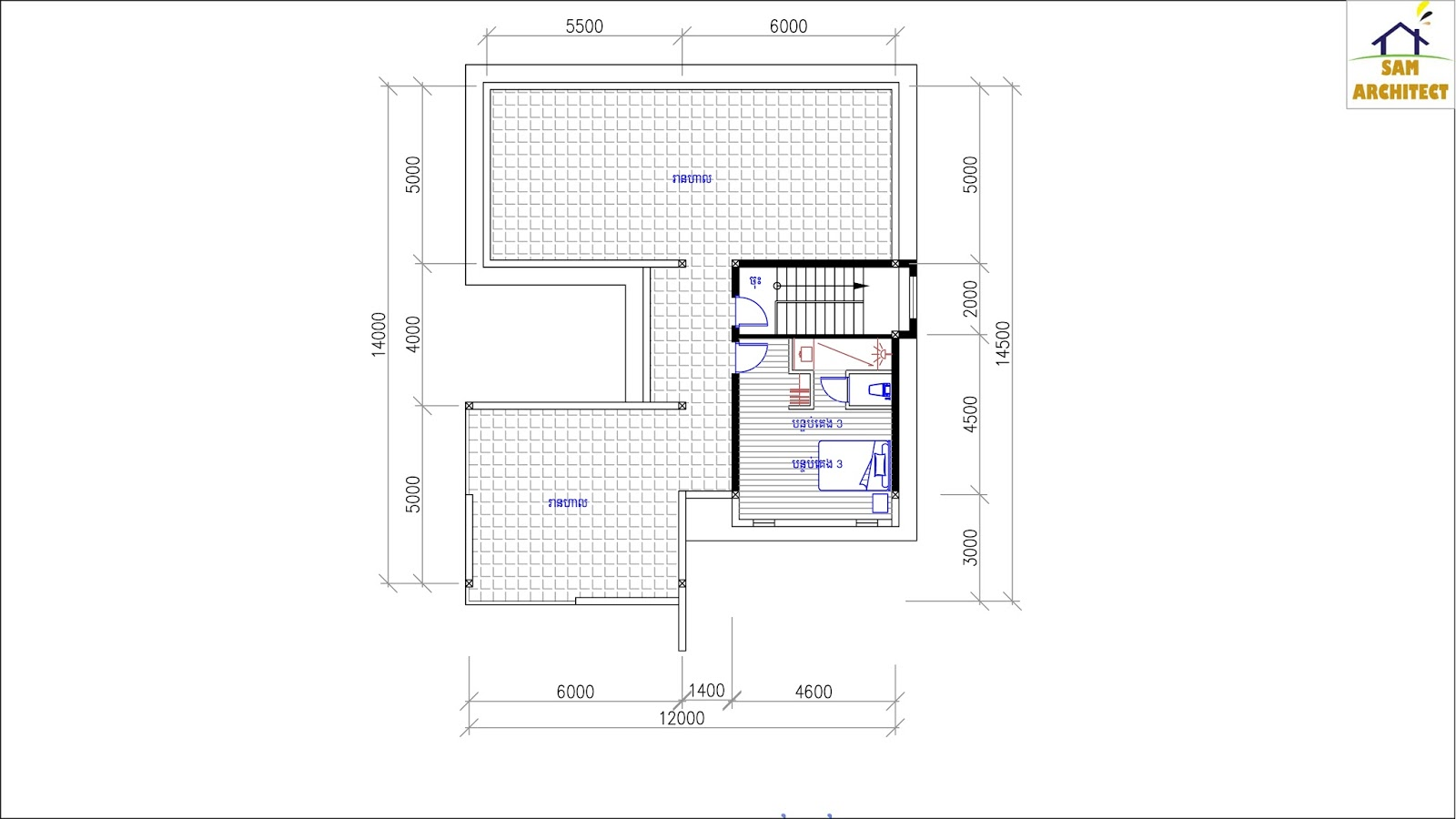 SketchUp Home Plan 12x14m 3 Story House With 4 Bedrooms ...