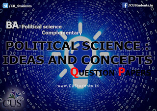 MAn introduction of Political Science : Ideas and Concepts  Previous Question Papers
