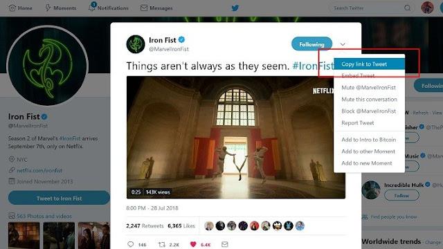 طريقة التحميل من تويتر بدون برامج