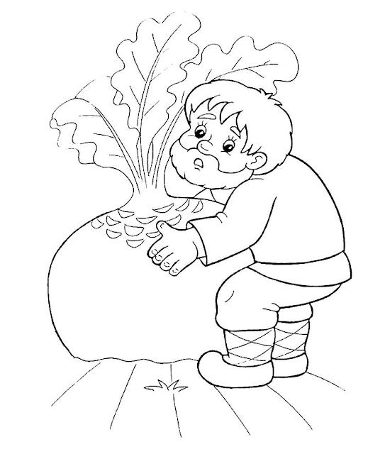 Gambar Mewarnai Sayur Lobak - 8