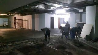 Pengerjaan Screeding, Floor Hardener dan Coating, Graha Thamrin - Jakarta