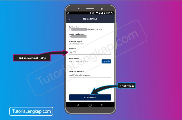 Tutorialengkap 6 cara isi saldo LinkAja atau Tcash dengan Aplikasi Brimo Bank Bri secara Online