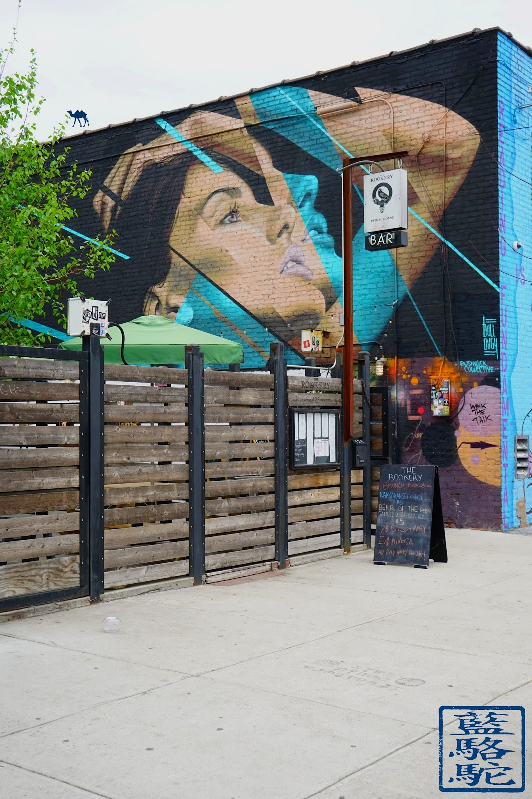 Le Chameau Bleu - Street Art Mur  - Bushwick- Balade dans Brooklyn New York
