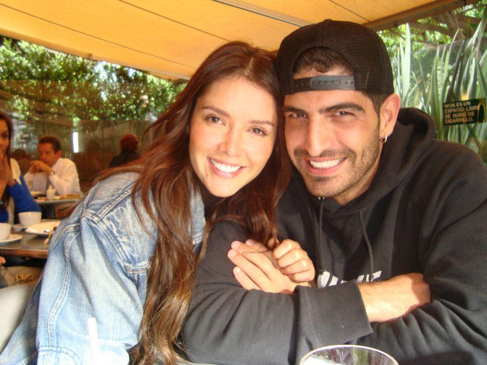 Marlene Favela with her boyfriend Guy Davidyan
