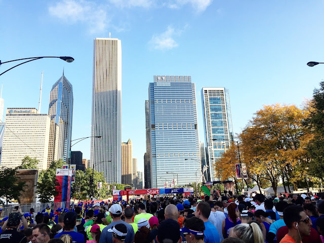 Chicago Marathon start line