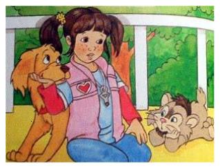 Punky a Levada da Breca, viciada por desenho, Uma Garota chamada sam