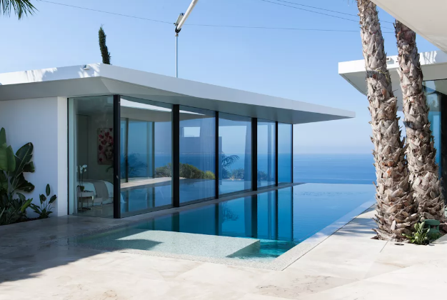 An Infinity Pool with the ocean view