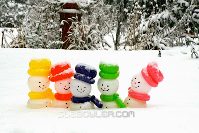 Balloon Snowmen by Sue Bowler