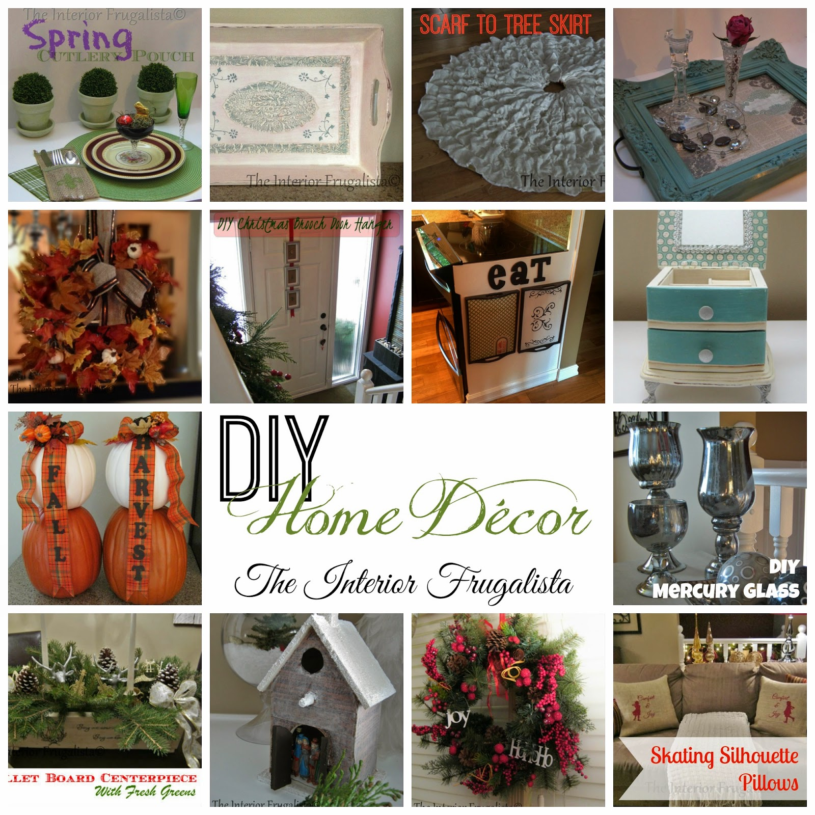 Touring Through Blogland a collage of home decor projects