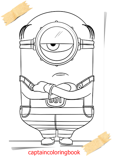 Despicable Me 3 Minions Coloring Page Coloring Page