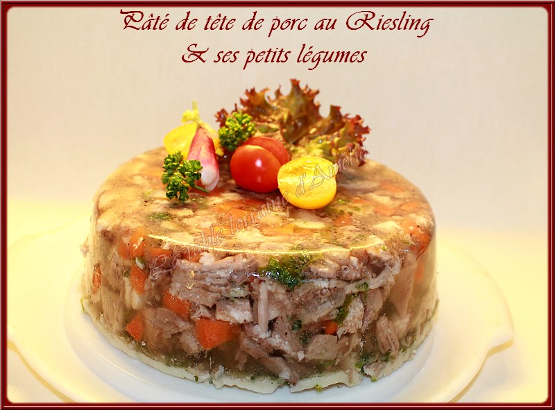 La Table Lorraine D Amelie Fromage De Tete De Porc Fermier Au Riesling Conserves De Fromage De Tete