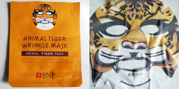 Animal Tiger Wrinkle Mask.