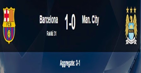 Hasil Barcelona Vs Manchester City