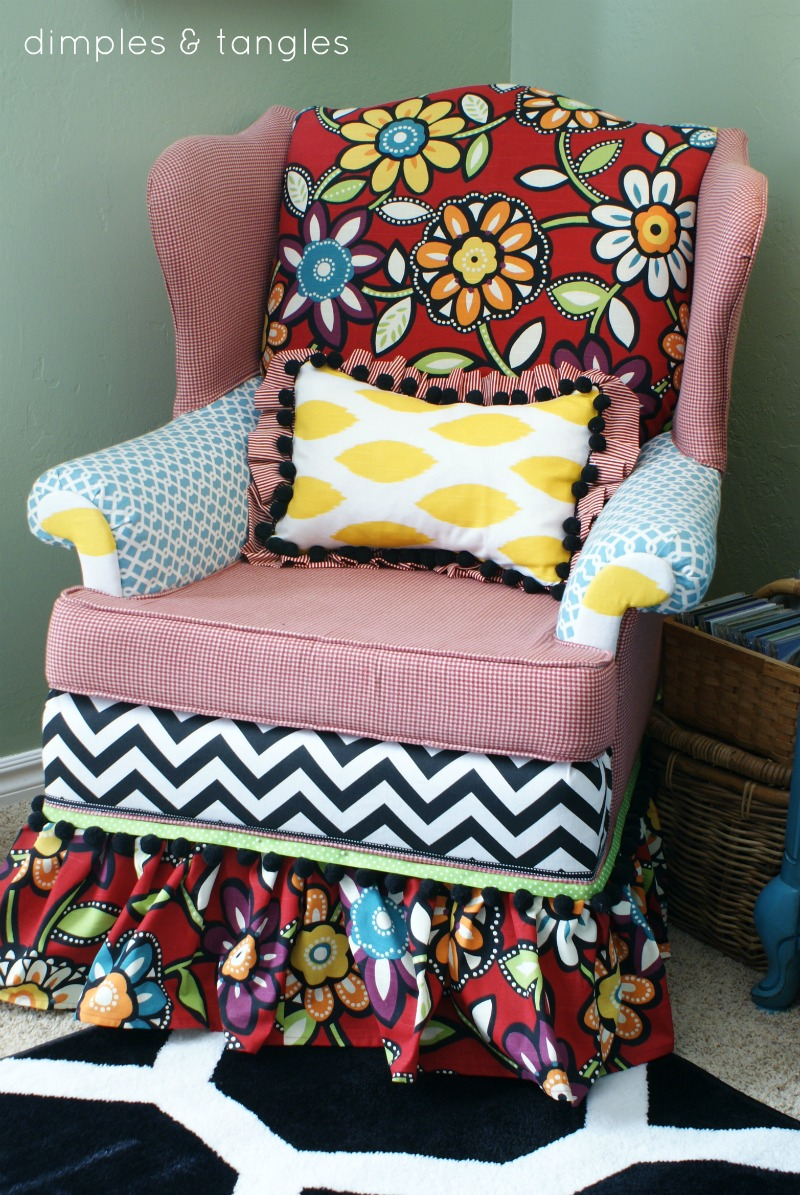 How To Reupholster A Chair With A Hot Glue Gun Way Back Wednesdays Dimples And Tangles