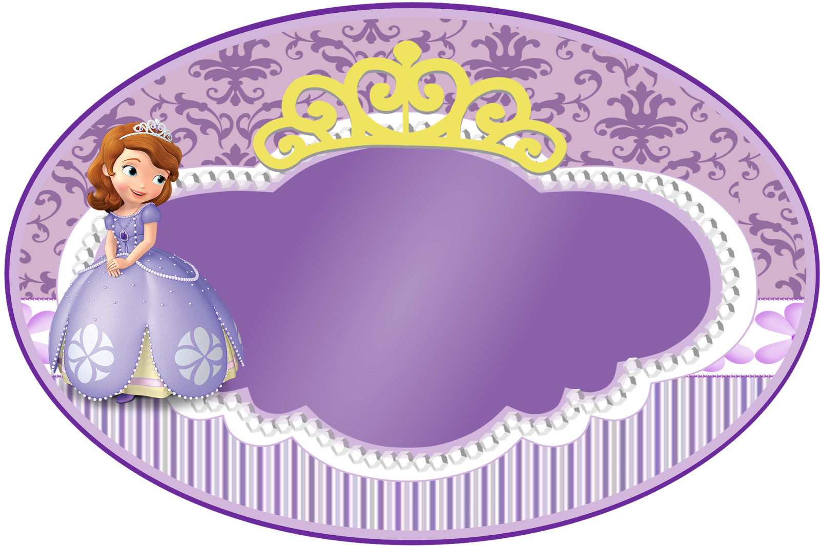 Princess First Birthday Invitations 004 - Princess First Birthday Invitations