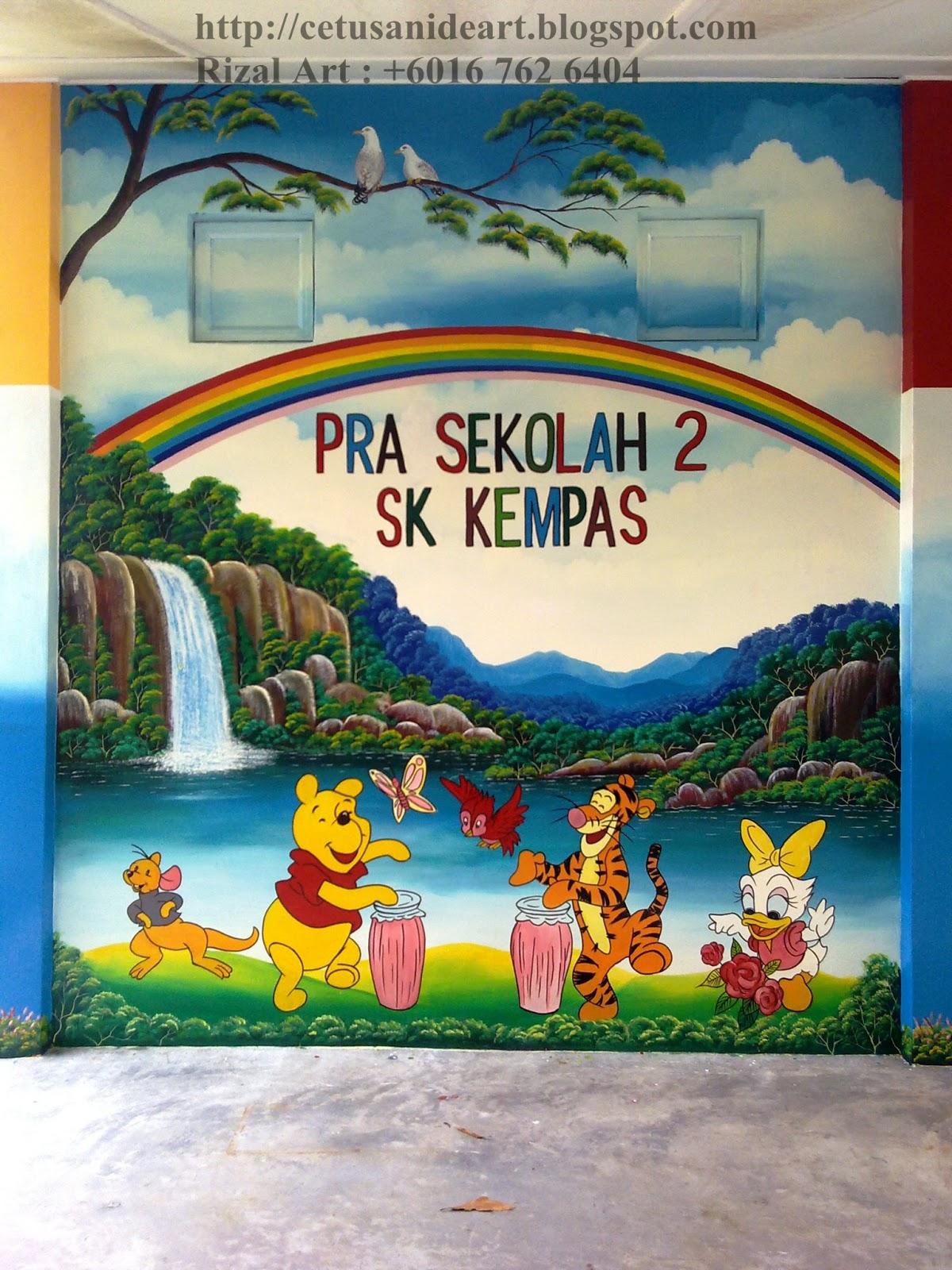 Lukisan Dinding Sekolah Tadika Sabalukisan