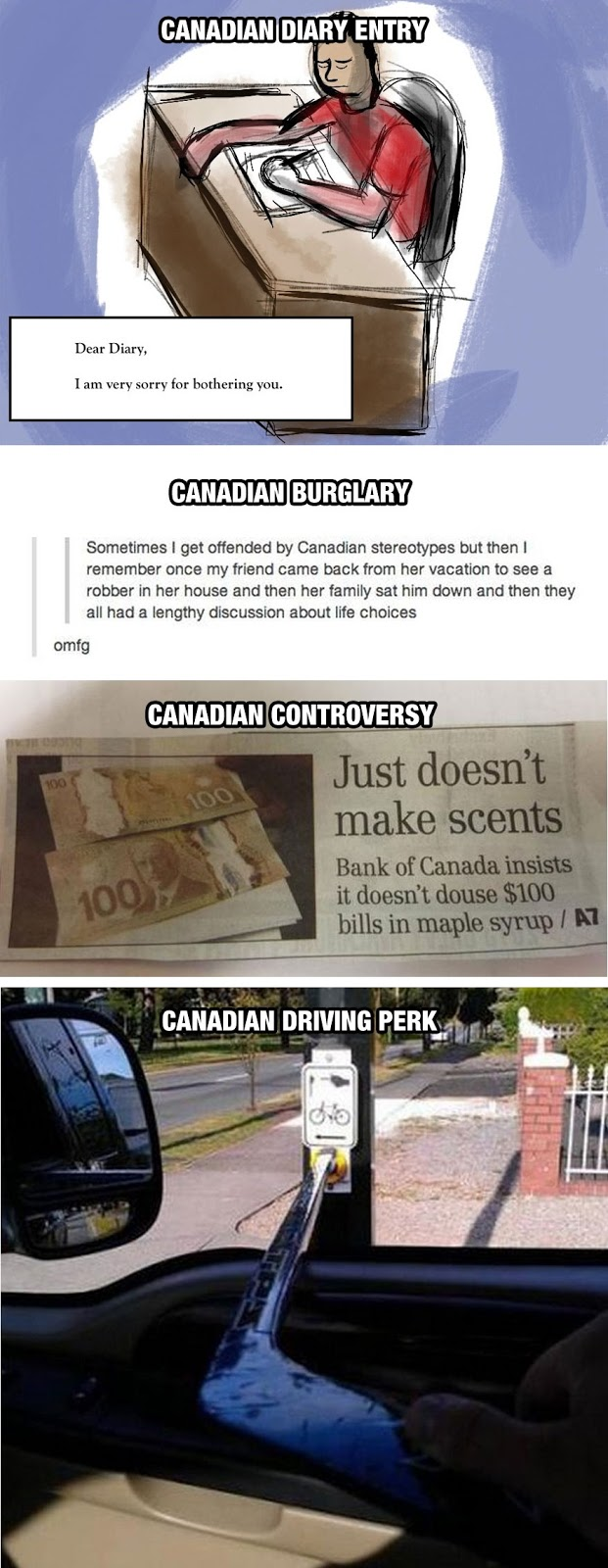 We do things differenrtley in Canada, eh?