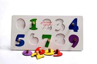 Puzzle Knop Angka APE PAUD