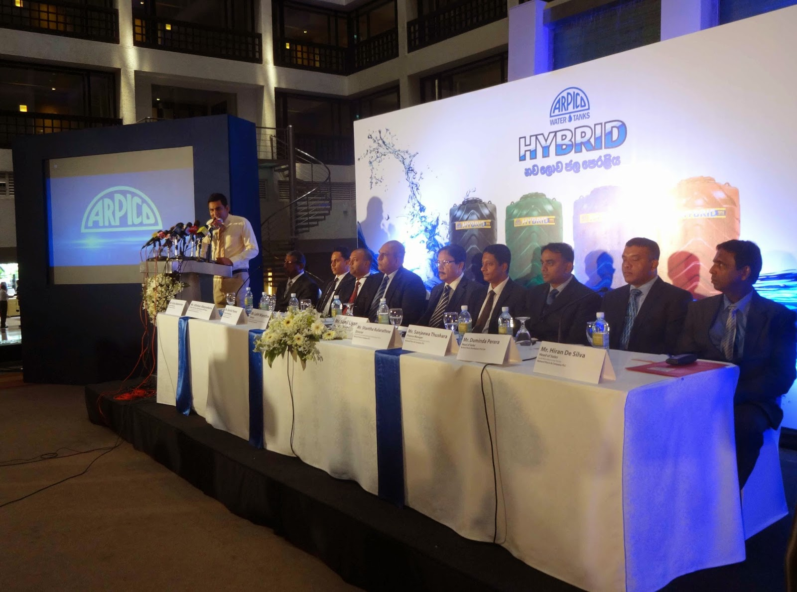 Hybrid water tanks launching ceremony-Head Tables