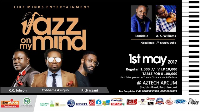 Event: JAZZ ON MY MIND with Cobhams Asuquo, K O Baba, Bamidele, C.C Johnson and Others