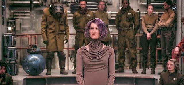 La vice-amirale Amilyn Holdo (Laura Dern) dans Star Wars 8, les derniers jedi