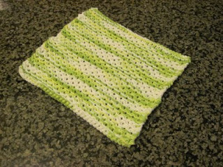 April Showers Cotton Washcloth
