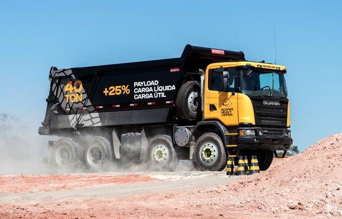 Heavy Tipper faz sucesso no estande da Scania na Exposibram