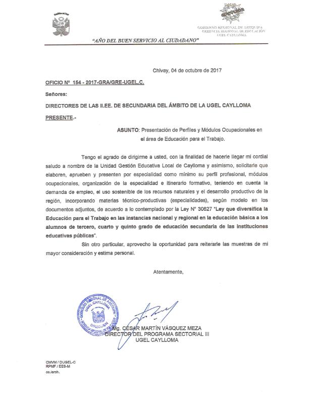 Ugel Caylloma Ii Ee Secundarias área De Ept Presentar