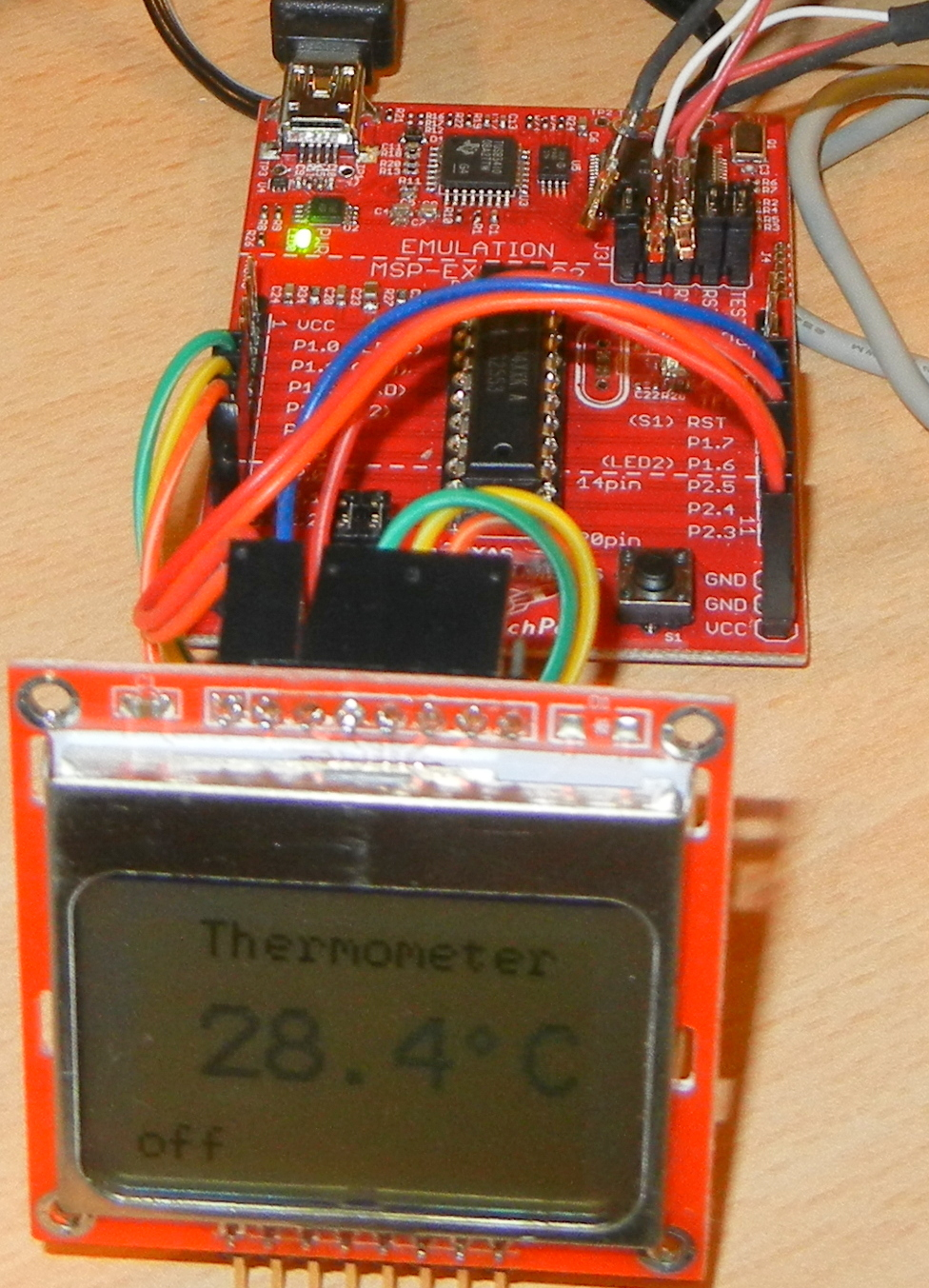 Digital Thermometer with TI Lanchpad MSP430 and Sparkfun
