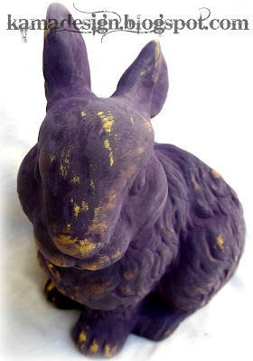 Easter bunny repaint using chalk paint look 2