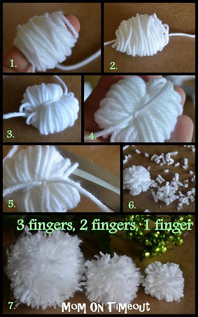 Hacer pompones con los dedos