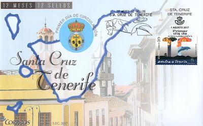 Sobre Primer Día del sello dedicado a Santa Cruz de Tenerife