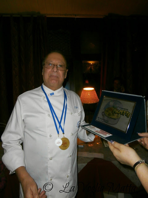 primo premio a Paolo Verbanaz con le polpettine di astice