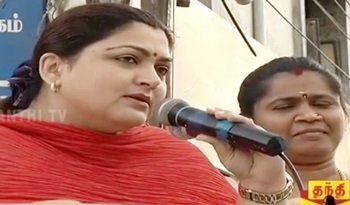 Congress Spokesperson Khushboo attacks AIADMK Government | Election Campaign Speech – Thanthi Tv