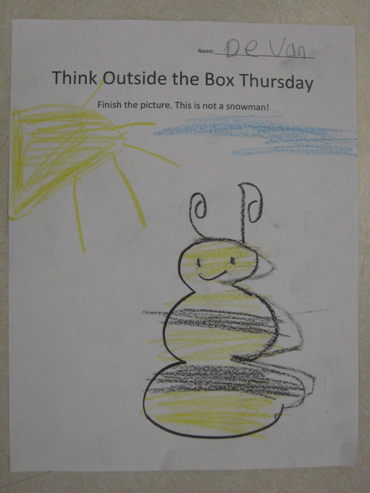 Miss Young S Art Room Thinking Outside The Box