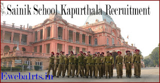 Sainik School Kapurthala Recruitment