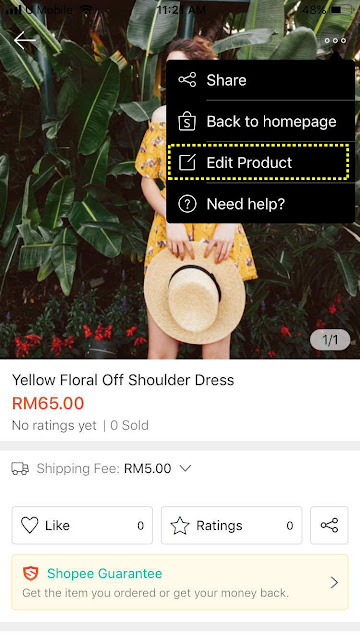 Shopee edit product