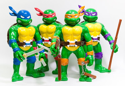 RealxHead Teenage Mutant Ninja Turtles Vinyl Figure Collection by Unbox Industries - Leonardo, Donatello, Michelangelo & Raphael