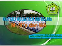 Contoh Materi Kegiatan Matsama untuk jenjang MI MTs dan MA Tahun pelajaran 2017-2018