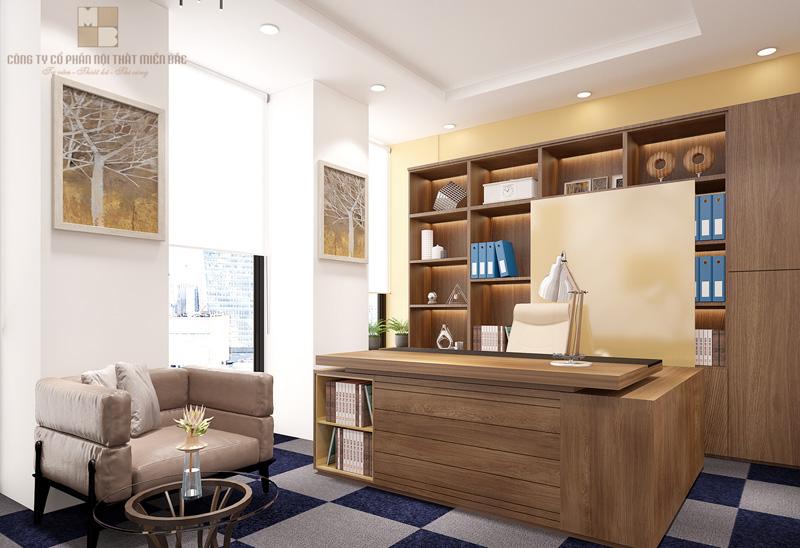 Thiết kế nội thất phòng giám đốc ấn tượng với chi tiết trang trí