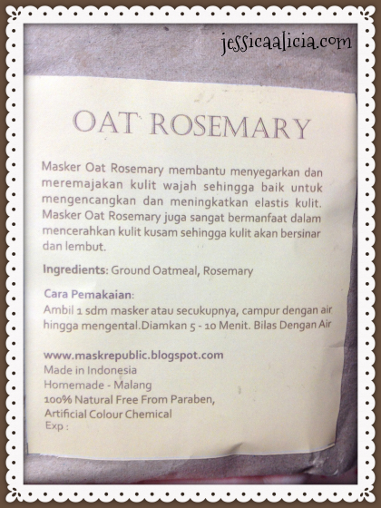 Review : Mask Republic Oat Rosemary Powder Mask by Jessica Alicia