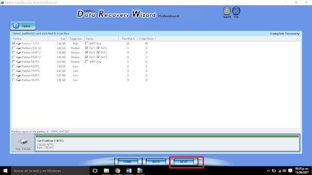 analizar los archivos a recuperar