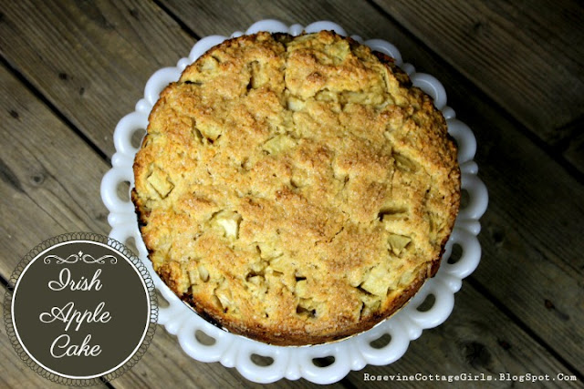 St. Patricks Day Recipes , irish apple cake, irish cake recipe, fall Irish Cake Recipe, by Rosevine Cottage Girls dot com