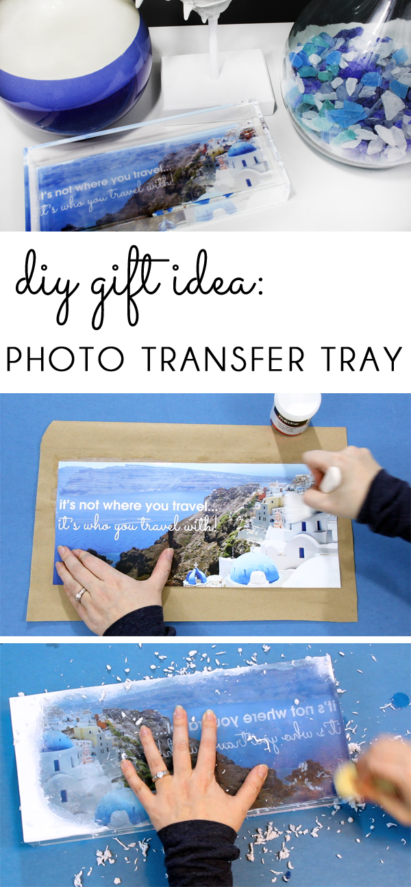 DIY Gift Idea Photo Transfer Tray