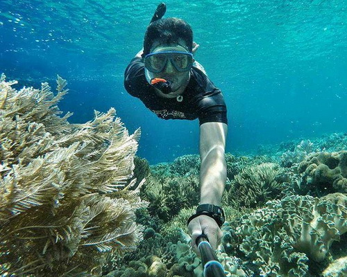 Tinuku Travel Siladen Island, small paradise in big beauty for snorkeling, diving and sunbathing in Bunaken