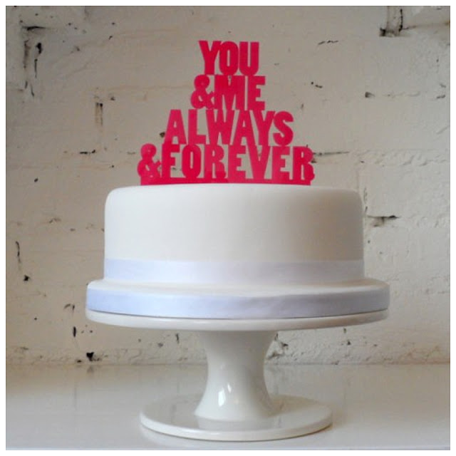 Fun Song Title Cake Toppers