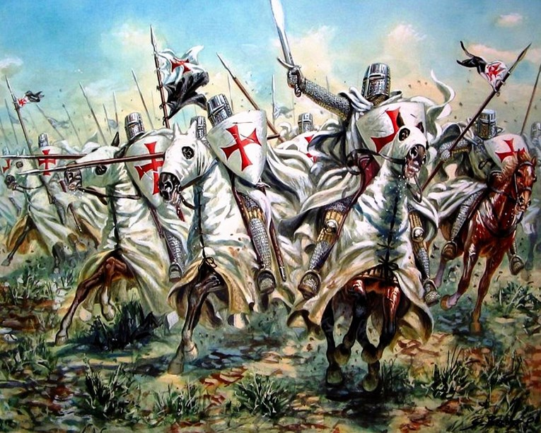 Sejarah Penyebab Perang Salib Pertama dan Paus Urbanus II prajurit Templar berkuda