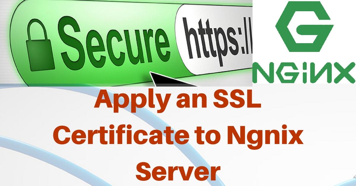 Configure An Ssl Certificate On Nginx Apply An Ssl Certificate To