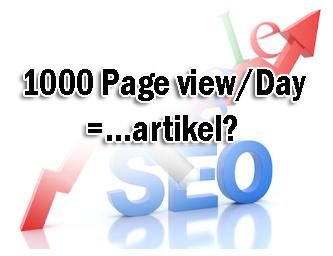 Butuh berapa artikel untuk bisa mencapai 1000 Pv