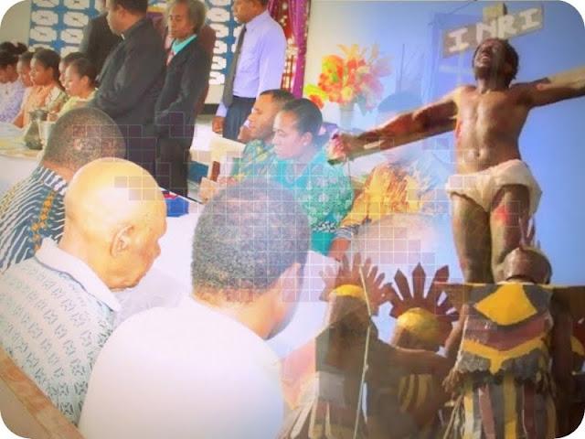 Umat Kristen di Biak Selatan Gelar Perjamuan Paskah